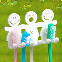 1Pcs Smile Face Bathroom Kitchen Toothbrush Towel Holder Wall Sucker Hook Popular New - 10MINUS: Online Shopping Destination with High-Quality