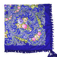 2016 hot sale new fashion woman Scarf square scarves short tassel floral printed Women Wraps Winter lady shawls free shipping-03 - 10MINUS: Online Shopping Destination with High-Quality