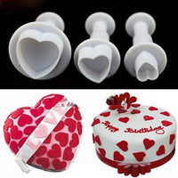 1Set/3PCS Love Heart Plunger Cutter Mold Sugarcraft Fondant Cake Decorating DIY Tool Free Shipping - 10MINUS: Online Shopping Destination with High-Quality
