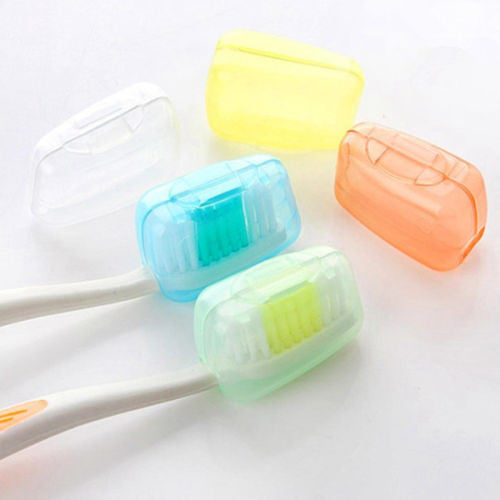 1set/5pcs New Portable Travel Toothbrush Head Cover Case Protective Caps Health Germproof - Best price in 10minus