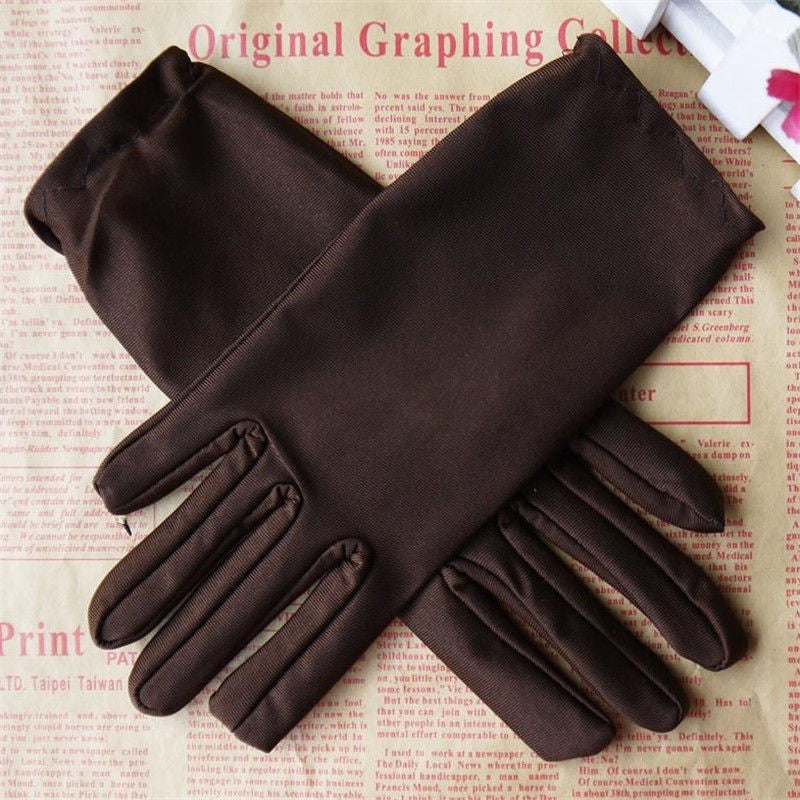 1Pair New Fashion 9 colors stretch satin evening prom gloves for Women Winter Warm Home Car Outdoor Activity - 10MINUS: Online Shopping Destination with High-Quality