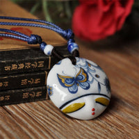 Ceramic Necklace Pendants New Fashion Vintage Handmade Lovely Heads Jewelry Accessories Wholesale Gifts For Lovers - Best price in 10minus