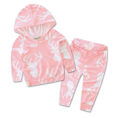 2016 Autumn style infant clothes baby clothing sets 2pcs Newborn  Baby Girls Clothes T-shirt Hoodie+Pants Outfits Set - Best price in 10minus