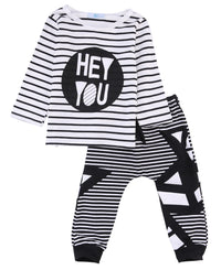 2016 autumn Winter baby boy clothes children suit fashion Striped long sleeved t-shirt+pants 2pcs sets newborn baby clothing set - Best price in 10minus
