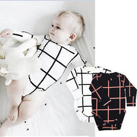 2016 Baby Kids Boy Girls Romper Jumpsuit Casual Long Sleeve plaid romper jumpsuit Clothes Set - Best price in 10minus