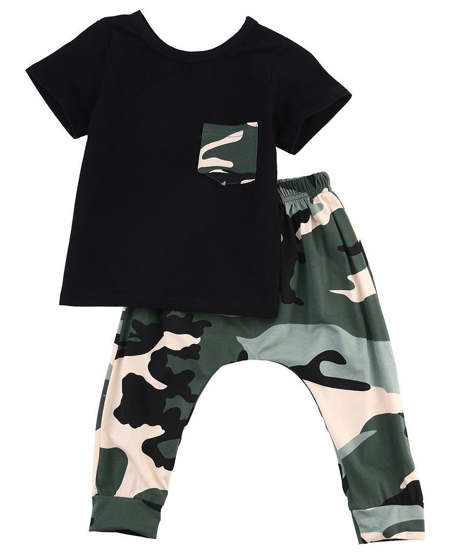 2016 children fashion summer baby boys girls clothing sets bow 2pcs camouflage sport suit clothes sets boys girls summer set - 10MINUS: Online Shopping Destination with High-Quality