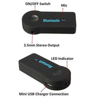 2016 Handfree Car Bluetooth Music Receiver Universal 3.5mm Streaming A2DP Wireless Auto AUX Audio Adapter With Mic For Phone MP3 - 10MINUS: Online Shopping Destination with High-Quality