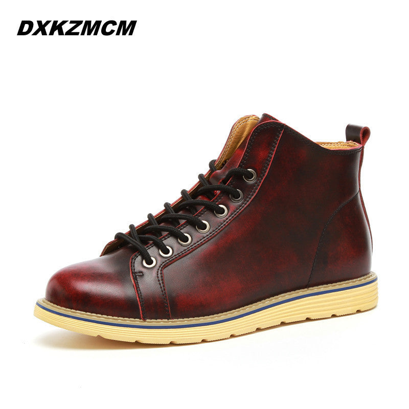 2016 Handmade Men Boots Comfortable Winter Quality Fashion Ankle Boots Casual Men Leather Snow Boots Winter Shoes - 10MINUS: Online Shopping Destination with High-Quality