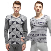 2016 High Quality Men'S Thermal Underwear Jacquard Cotton Round Neck Long Underwear Autumn Clothes Suit   A118 - 10MINUS: Online Shopping Destination with High-Quality