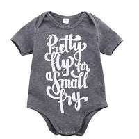 2016 Hot Baby Boy Girls Casual Romper Gray Color Letter Printed Jumpsuit Clothes Outfits 0-24M - 10MINUS: Online Shopping Destination with High-Quality