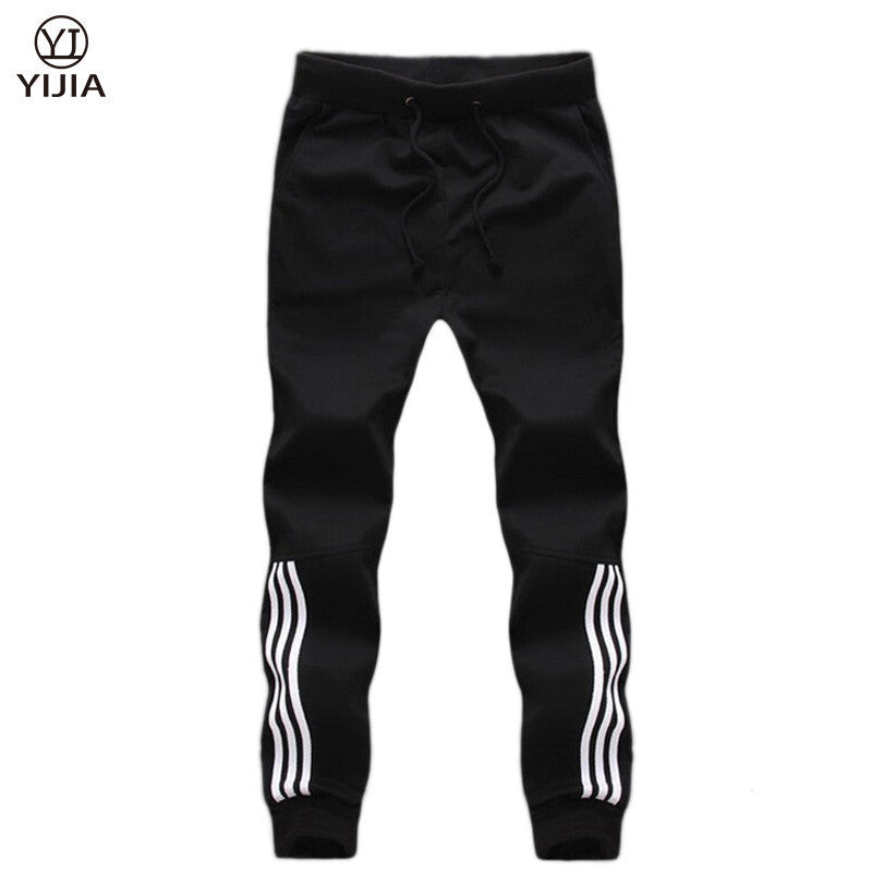 2016 Hot Selling Men Trend Jogger Harem Pants White border Decoration Lace-up Loose Casual Style Pants Men Clothing - 10MINUS: Online Shopping Destination with High-Quality