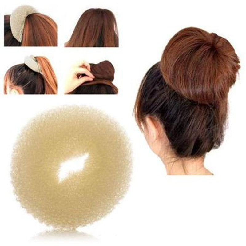 2016 Korean Style Bud Head Ball Head Disk Donuts Dish Hair Hairdressing tools For Women Hair Accessories - 10MINUS: Online Shopping Destination with High-Quality