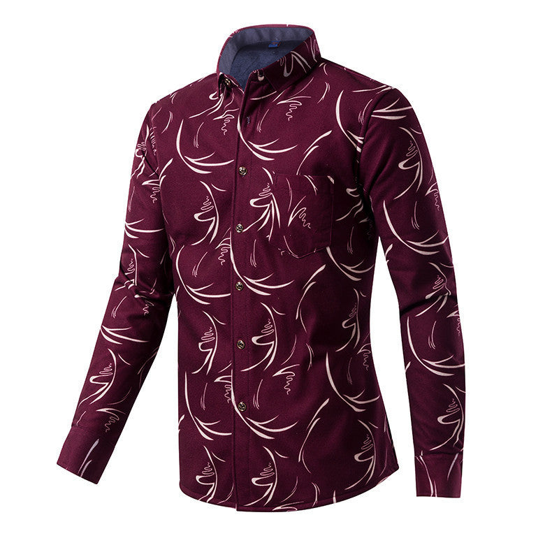 2016 Luopei Men's Autumn And Winter Keep Warm Casual Shirts - 10MINUS: Online Shopping Destination with High-Quality