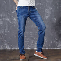 2016 Mens Casual Jeans New Fashion Slim Fit Denim Men's Cotton Stretch Elastic Jeans Straight Pants Breathable Soft trouser - 10MINUS: Online Shopping Destination with High-Quality
