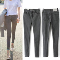 2016 New Arrival Women's Clothes For Autumn Jeans Thin High Waist Plus Size Button Elastic Female Denim Slim Pencil Trousers - 10MINUS: Online Shopping Destination with High-Quality
