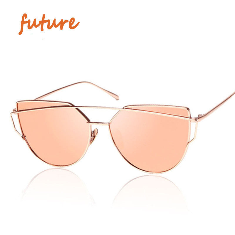 2016 New Cat Eye Sunglasses Women Vintage Fashion Rose Gold Mirror Sun Glasses Unique Flat Ladies Sunglasses Oculos UV400 - 10MINUS: Online Shopping Destination with High-Quality