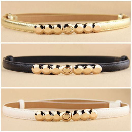 2016 New Fashion Accessories Decorative gold tone Alloy Buckle Paint  thin belt girdle belt female belts for women ladie's girl - 10MINUS: Online Shopping Destination with High-Quality