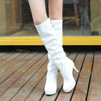 2016 New fashion autumn boots woman casual solid long thigh high boots women shoes high heels fashion knee high boots women - 10MINUS: Online Shopping Destination with High-Quality