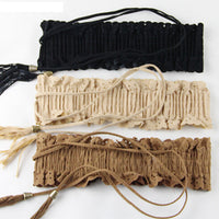 2016 New Fashion Dress Dressing Thin Slim  Hollow Fringed Elastic Waist Belts Waistband Hot Selling - 10MINUS: Online Shopping Destination with High-Quality