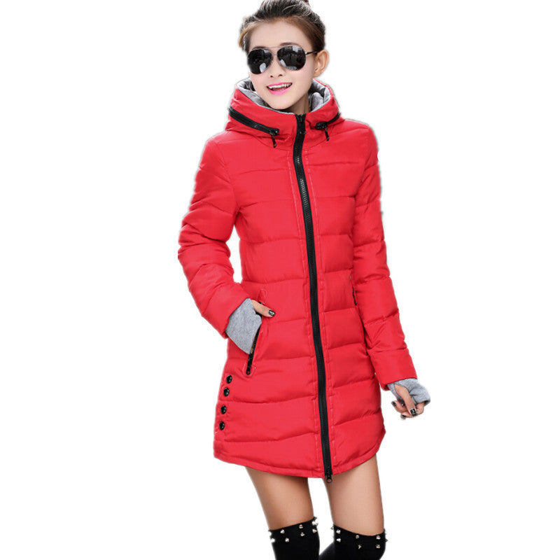 2016 New Fashion Winter Coat Women Female Cotton-padded Jacket Plus Size Down Cotton Jackets And Coats Slim Hooded Clothing - 10MINUS: Online Shopping Destination with High-Quality
