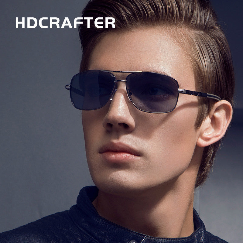 2017 NEW Men High Quality Brand Design Polarized Driving Rectangle Sun Glasses UV400 Fashion Sunglasses Men with Box - 10MINUS: Online Shopping Destination with High-Quality