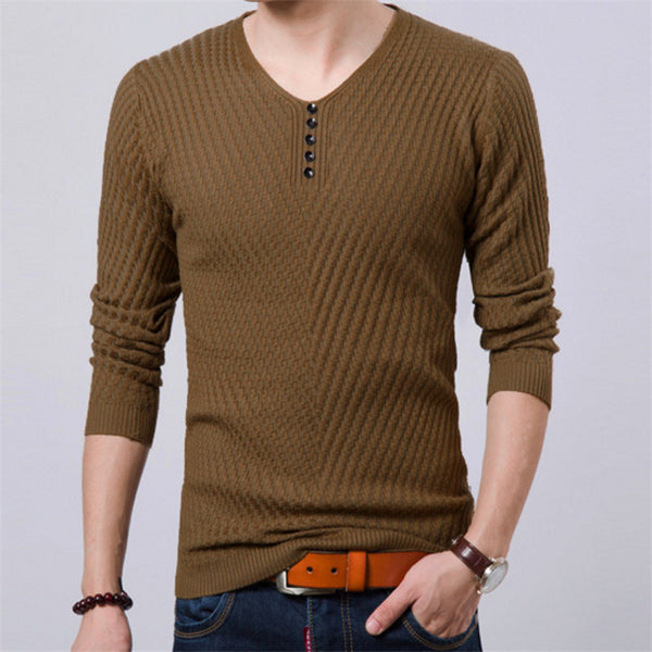 2017 Spring  Pullover Men Casular V Neck Sweater Men Long Sleeve  Mens Sweaters Wool Casual  Brand Cashmere Knitwear Pull Homme - Best price in 10minus