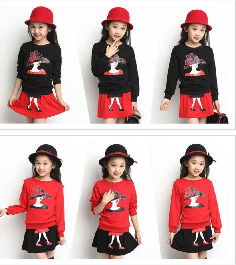 2017 Spring Tsaujia Brand Big Girls Clothing Set 2pcs Long Sleeve Sweater+ Skirt Suits  Kids Cotton Clothes Set 3-11 Years KF067 - Best price in 10minus
