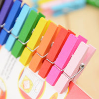20pcs  Beautiful Design 35mm Mini Color Wooden Craft Pegs Clothes Paper Photo Hanging Spring Clips For Message Cards - Best price in 10minus