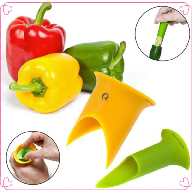 2pcs New Utility Chili Peppers Seed remover Tomatoes Core Separator Device Kitchen Tools - 10MINUS: Online Shopping Destination with High-Quality