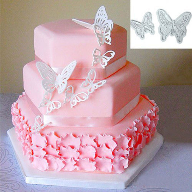 2pcs/Set Butterfly Cake Fondant Sugarcraft Cookie Decorating Cutters Mold Tool - Best price in 10minus