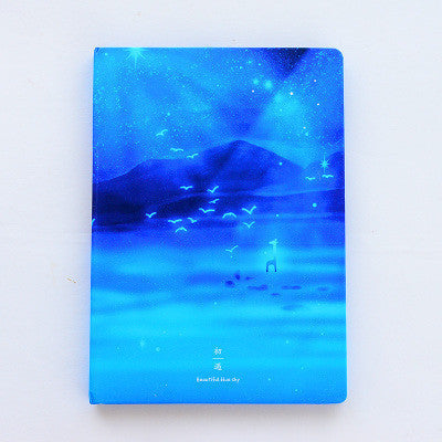 1PC Korea Stationery Beautiful Moonlight Sky Notebooks And Journals Notepad Creative Travel Diary - 10MINUS: Online Shopping Destination with High-Quality