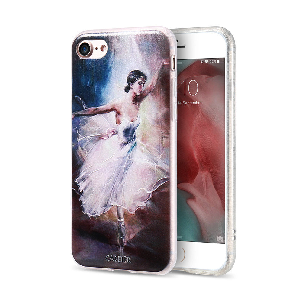 3D Embossed Ballet Girl Cover For iPhone 7 6 6S Plus 5 5S SE Case Print Fundas For Samsung S6 S7 Edge Silicon Phone Cases Coque - Best price in 10minus