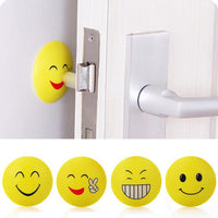3D Wall Stickers Rubber Door Handle Knob Emoji Crash Pad Wall Protector Self Adhesive Bumper Stickers - Best price in 10minus