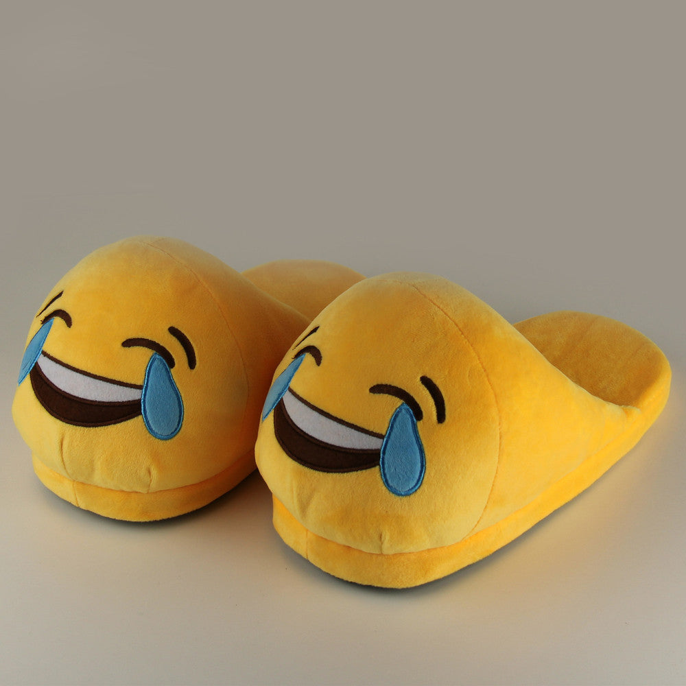 Funny Mens Plush Slippers  Indoor Shoes House Cute Women Slippers Emoji Shoes Warm House Slipper - 10MINUS: Online Shopping Destination with High-Quality