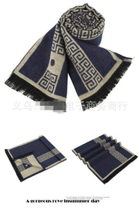 Scarf luxury brand designer Men Classic Winter Scarf Warm Soft Tassel ethnic Shawl Wrap Sick Scarf Men scarves cachecol - 10MINUS: Online Shopping Destination with High-Quality