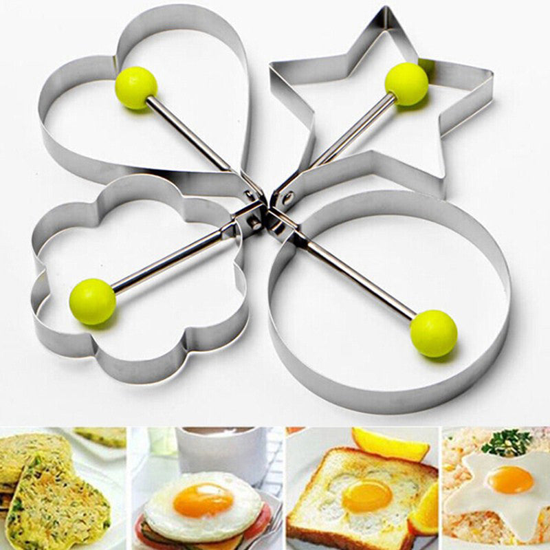 4 Shape stainless steel omelette mould device love surprise eggs ring model heart shape egg mold styling tools ferramentas - 10MINUS: Online Shopping Destination with High-Quality