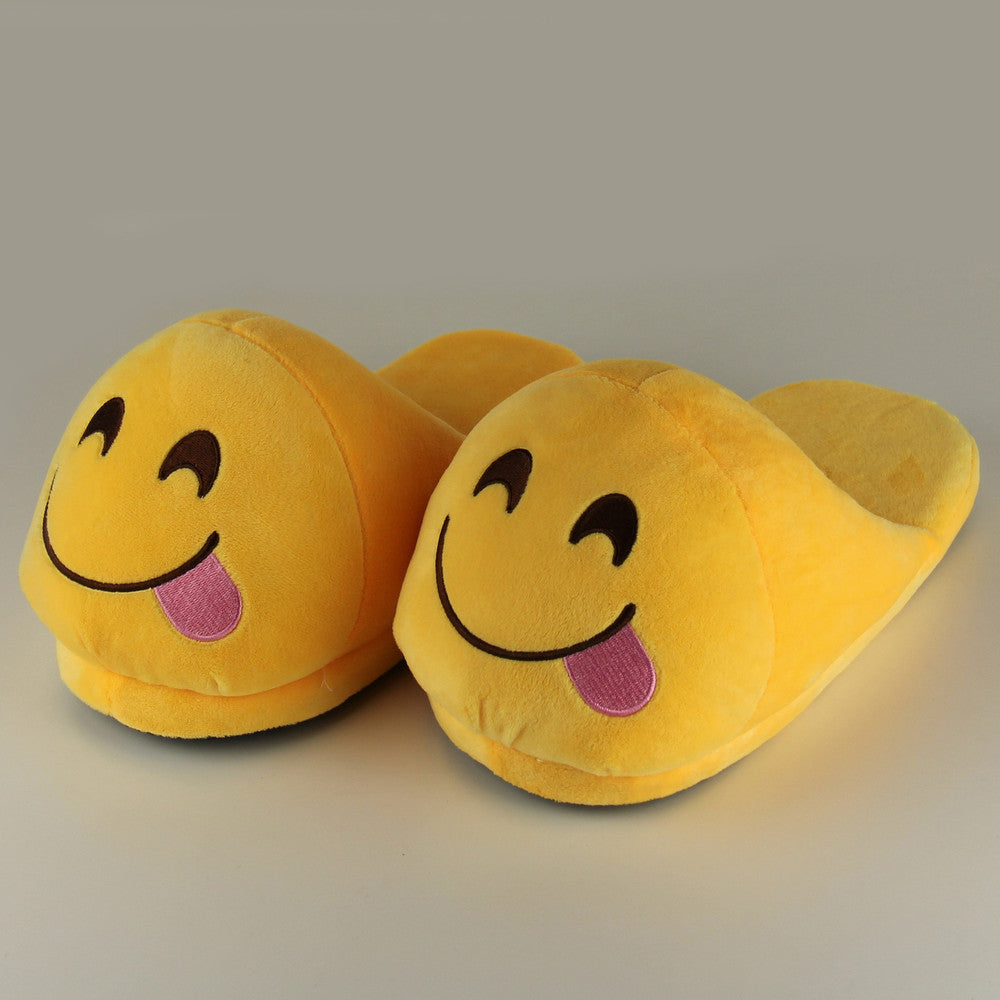 Funny Mens Plush Slippers  Indoor Shoes House Cute Women Slippers Emoji Shoes Warm House Slipper - Best price in 10minus
