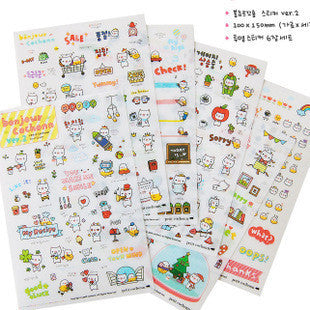 1 Sheet Cute Diary Stickers Pack Post it Kawaii Planner Scrapbooking Sticky Stationery Material Escolar 2016 New School Supplies - 10MINUS: Online Shopping Destination with High-Quality