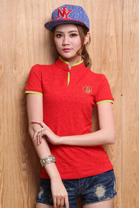 2016 High Quality Solid Color Women Polo Shirt S-XXL Cotton Slim Polo Femme Shirt Plus Size Brand Polo Raph Women Velvet - 10MINUS: Online Shopping Destination with High-Quality