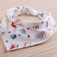100%Cotton Baby Bibs Bandana Bibs Baby Clothing Girls Boys Baby Baberos Cartoon Character Animal Print - 10MINUS: Online Shopping Destination with High-Quality