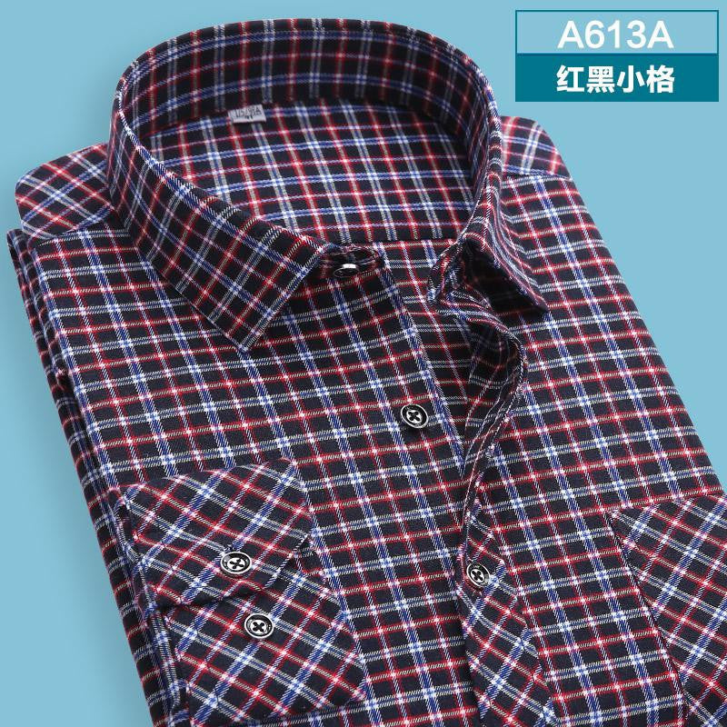 10 minus A613 / XS autumn  winter Men's shirts tops fashion loose Leisure long-sleeved plaid shirt with flannel casual plus size office Style autumn  winter Men's shirts tops fashion loose Leisure long-sleeved plaid shirt with flannel casual plus size office Style autumn  winter Men's shirts tops fashion loose Leisure long-sleeved plaid shirt with flannel casual plus size office Style A613 / XS