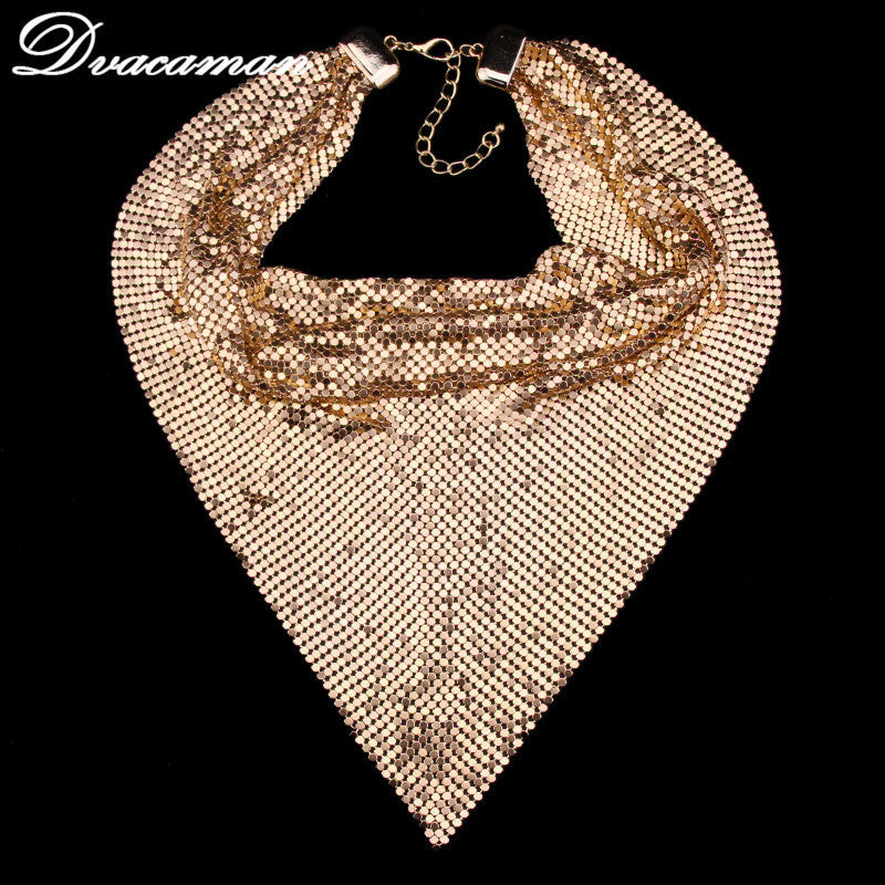 Dvacaman New Arrival Fashion Triangle Shape Scarf Bib Statement Choker Necklace Trend Party Jewelry Accessory 7440 - Best price in 10minus