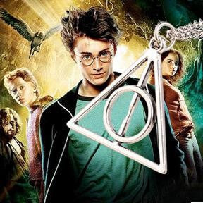 Harry Potter Movies Simple Deathly Hallows Collier Cross Statement Necklace Pendant Accessories Wholesale Men -Triangle - Best price in 10minus