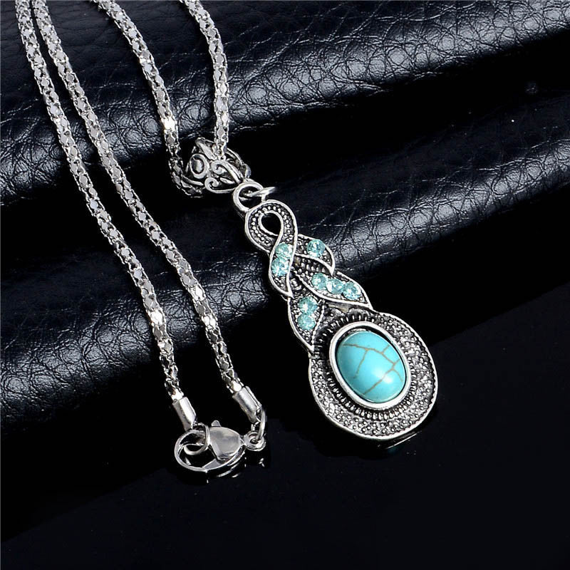 10 MINUS Accessories Title Women Vintage Necklace Alloy Crystal Turquoise Pendant Long Chain Necklace Sweater Accessories TL221 FREE SHIPPING Women Vintage Necklace Alloy Crystal Turquoise Pendant Long Chain Necklace Sweater Accessories TL221 FREE SHIPPING Women Vintage Necklace Alloy Crystal Turquoise Pendant Long Chain Necklace Sweater Accessories TL221 FREE SHIPPING Title