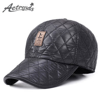 [AETRENDS] Winter Hats with Ears Baseball Cap 7 Panel Bone Warm Woolen Thick Caps for Men Z-1689 - 10MINUS: Online Shopping Destination with High-Quality
