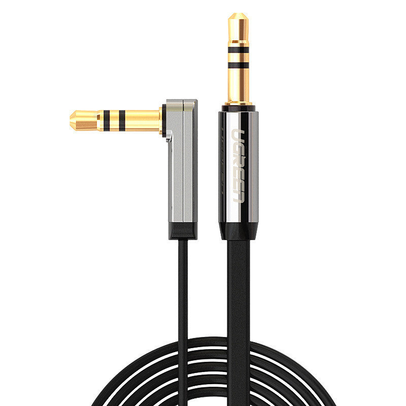 Ugreen aux cable jack 3.5mm male to male audio cable 90 degree right angle flat aux cable for car / PM4 PM3 / headphone aux cord - Best price in 10minus
