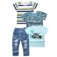 JT-133 Retail 2017 new arrive factory outlet baby boys clothing set children clothing set fashion kids costumes free shipping - Best price in 10minus