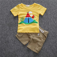 JT-026 Retail 2017 summer fashion baby boys sets children set of polo shirt + loose-fitting shorts kids clothing free shipping - 10MINUS: Online Shopping Destination with High-Quality