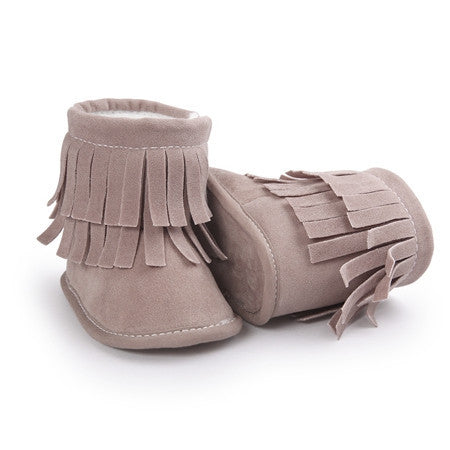 0-18M Winter Warm Baby Boots Baby Moccasins Fur Soft Soled Baby Kids Girl Booties - 10MINUS: Online Shopping Destination with High-Quality