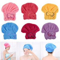 ASLT Womens Girls Lady's Magic Home Textile Microfiber Hair Turban Quickly Dry Hair Hat Wrapped Towel Bath Free Shipping - 10MINUS: Online Shopping Destination with High-Quality